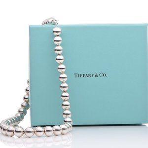 Auth TIFFANY & CO Hardwear Graduated Ball Necklace